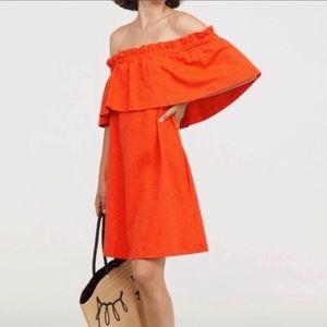NWT H&M Strapless Shoulder Ruffle Dress Medium